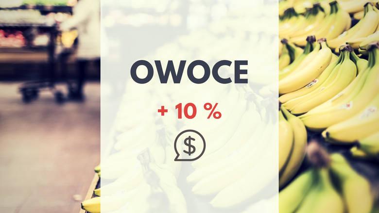 3. OWOCEWzrost ceny owoców można zaobserwować m.in na cenie bananów (ok.5zł/kg) oraz truskawek, jagód czy cytryn.