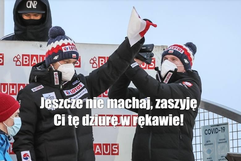 Memy o skoczkach. Polscy skoczkowie zajęli drugie miejsce w drużynowym konkursie Pucharu Świata w Lahti. W fińskiej miejscowości było to ich jedyne podium
