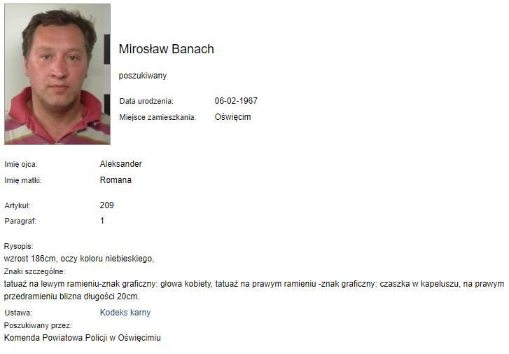 Alimenciarze poszukiwani przez policję w Małopolsce [RAPORT MAJ 2020]
