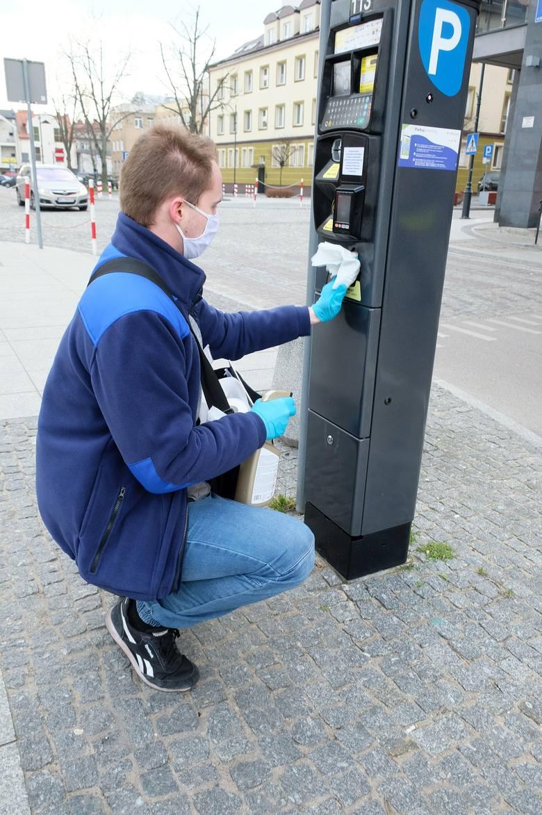 Białystok - dezynfekcja parkomatów. Płatne parkowanie nadal obowiązuje
