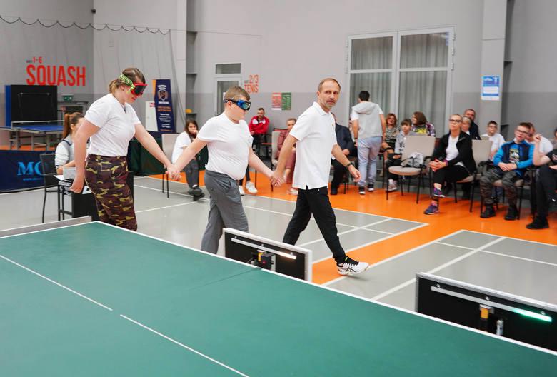 Trzyosobowy zespół z Owińsk podczas meczu półfinałowego ostatnich mistrzostw Polski.