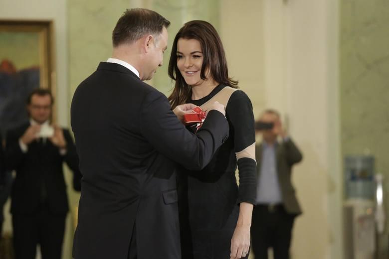 """Order dla Agnieszki Radwańskiej. Prezydent Andrzej Duda uhonorował najlepszą polską tenisistkę: """"Byliśmy dumni, obserwując pani sukcesy"""""""