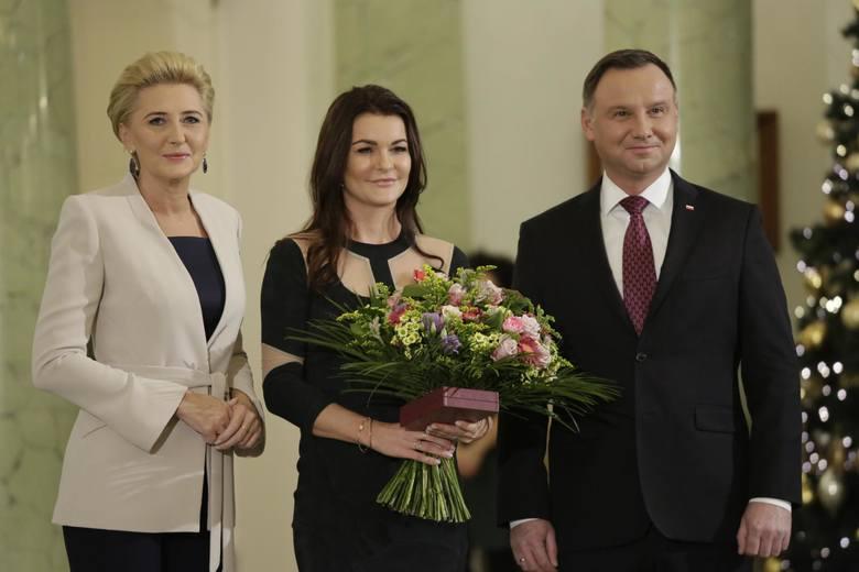 Agata Kornhauser-Duda,  Agnieszka Radwańska, Andrzej Duda