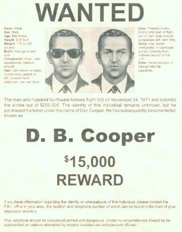 Poszukiwanie Dana Coopera w stanie Washington w 1976