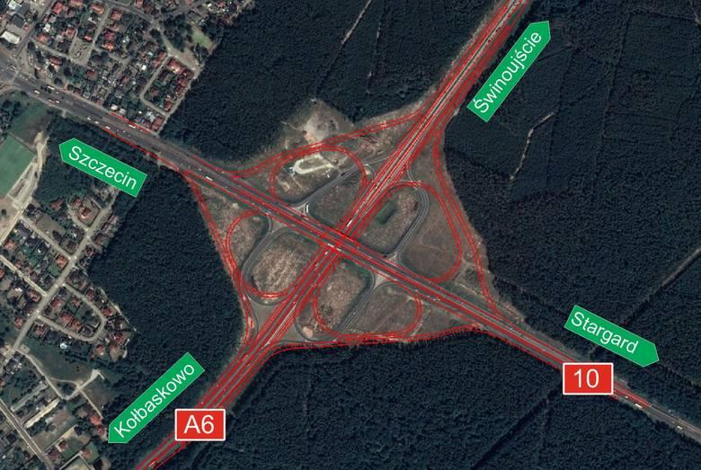 Węzeł Kijewo w Szczecinie. Jest drugi przetarg. Znacznie poprawi się przejazd w tym miejscu