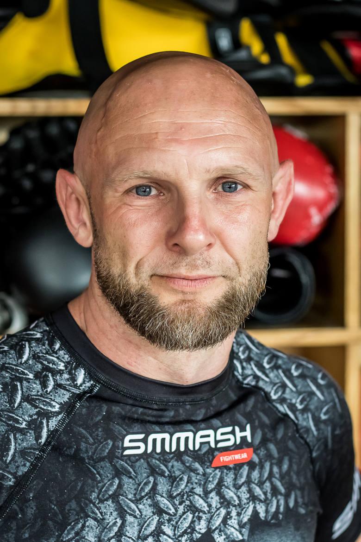 Trener i właściciel Akademii Sztuk Walki Black Panther w Bydgoszczy Krzysztof Brzozowski.