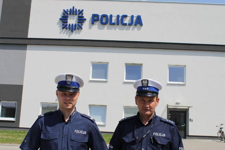Policjanci z wydziału ruchu drogowego międzyrzeckiej policji: st. sierż. Jakub Stępień oraz st. asp. Jarosław Rutkowski uniemożliwili desperatowi wbiegnięcie