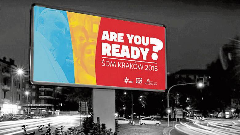 Pielgrzymów przyjeżdżających do Krakowa powitają billboardy