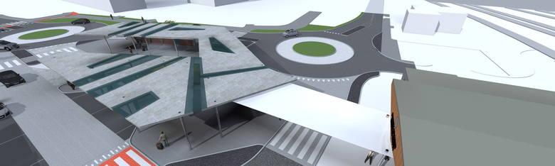 <strong>Węzeł Ligota</strong><br /> <br /> Węzeł, jako jedyny z czterech planowanych będzie zintegrowany z koleją i połączony - wiatą - z przebudowanym dworcem w Ligocie. Ma integrować komunikację kolejową, autobusową i indywidualną, będzie działał w systemie park&ride.<br />
