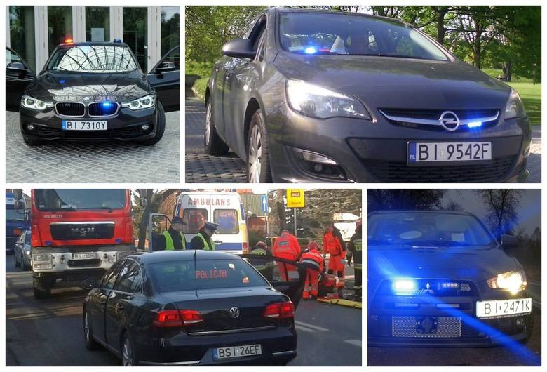 Oto nieoznakowane radiowozy policji oraz ITD w Białymstoku i województwie podlaskim. Sprawdź numery rejestracyjne.