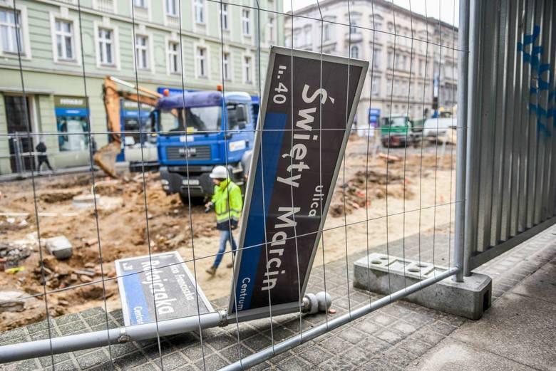 Trwa remont ul. Święty Marcin.