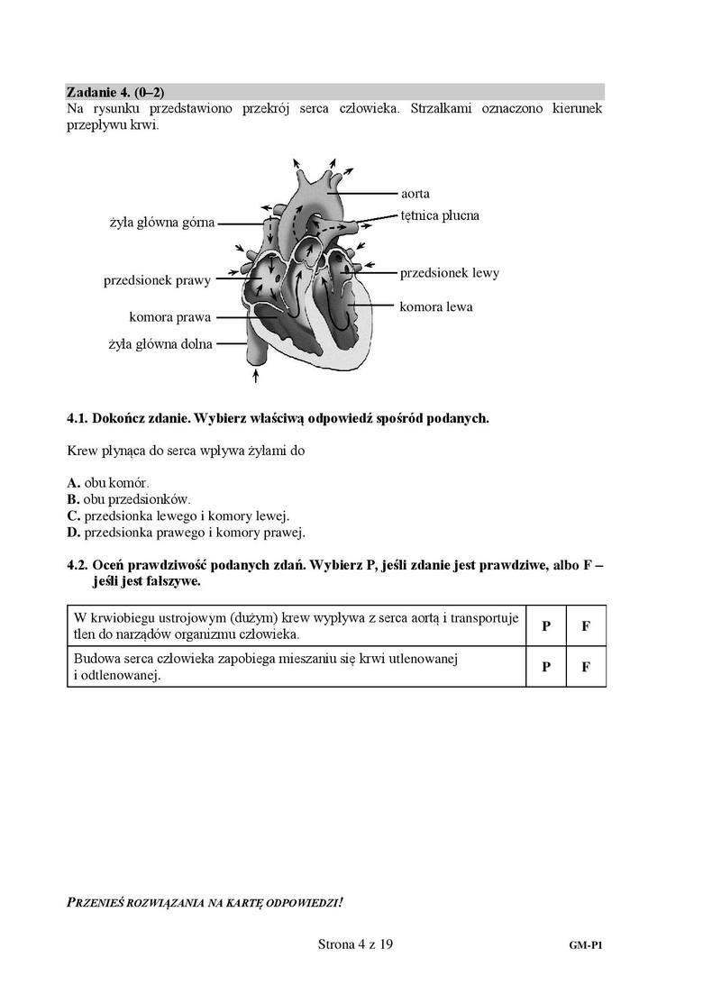 Zadanie 44.1. odpowiedź B4.2.1. PRAWDA2. PRAWDAZobacz kolejną stronę arkusza i odpowiedzi ---->