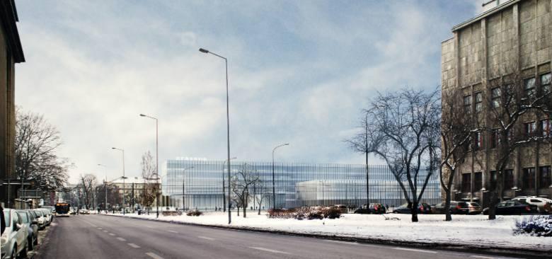 Najnowsza koncepcja obiektu biurowego w miejscu Cracovii. Już wiadomo, że taki nie powstanie