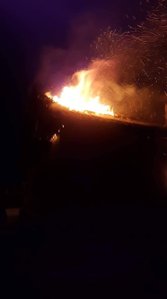 Pożar w Narwii. Dwie rodziny straciły dach nad głową