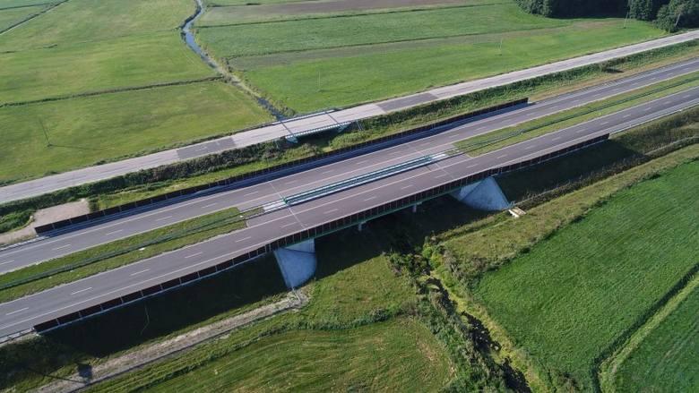 Rozbudowa drogi S8 Wyszków - Białystok, odc. Mężenin – Jeżewo (zdjęcia z drona z sierpnia 2019)