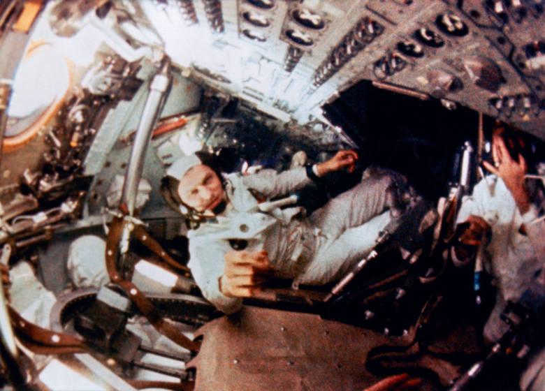 Załoga Apolla 8: Borman, Anders, Lovell. Ich zdjęcie było też na pierwszej  stronie Dziennika Zachodniego z 22/23 grudnia 1968 roku
