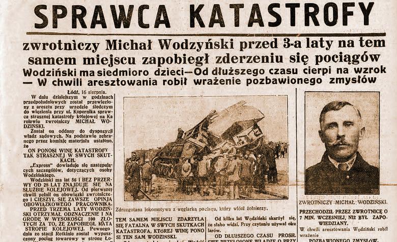 Zdruzgotana lokomotywa z węglarką pociągu, który wiózł żołnierzy.