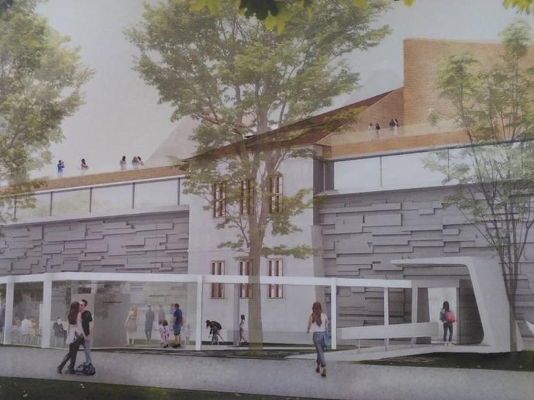 Jedna koncepcji przebudowy Bunkra Sztuki nadesłana na konkurs w 2016 roku.