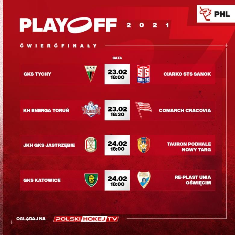 Emocje gwarantowane. Rozpoczyna się faza play-off Polskiej Hokej Ligi