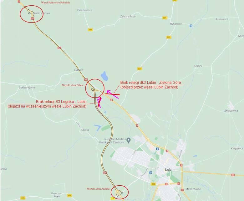 Duża zmiana organizacji ruchu na drodze S3 koło Lubina