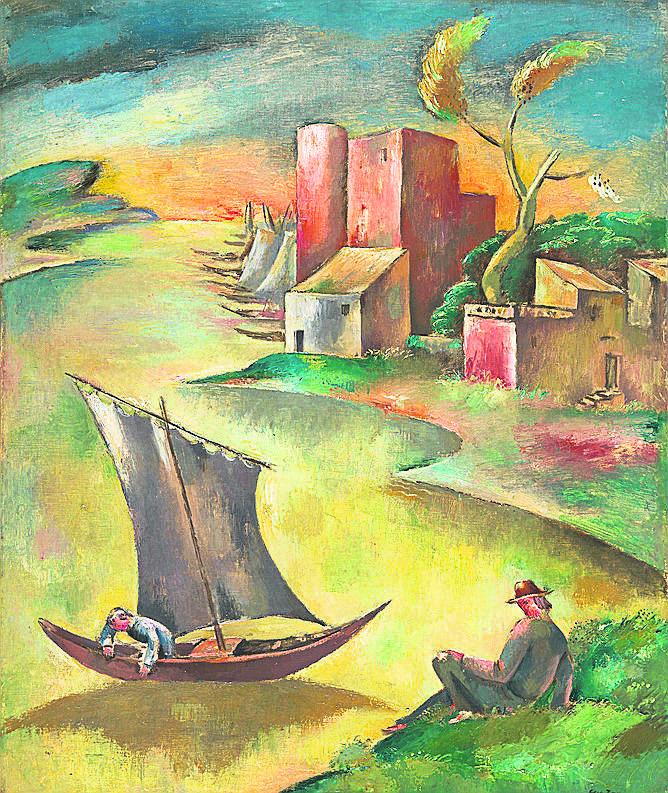 Eugeniusz Zak, Rozstanie,  1924, olej na płótnie