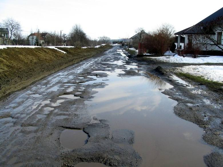 Tak wygląda ul. Sybieraków w Przemyślu. Nie jest to ulica w centrum miasta, lecz również nie na jego obrzeżach.