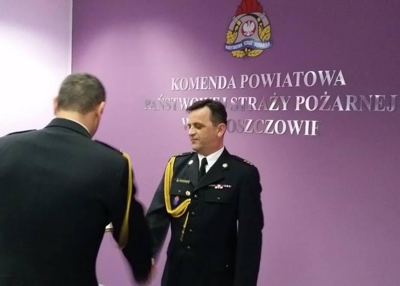 Wicekomendant włoszczowskiej straży Andrzej Pacanowski został uhonorowany dyplomem komendanta głównego PSP.