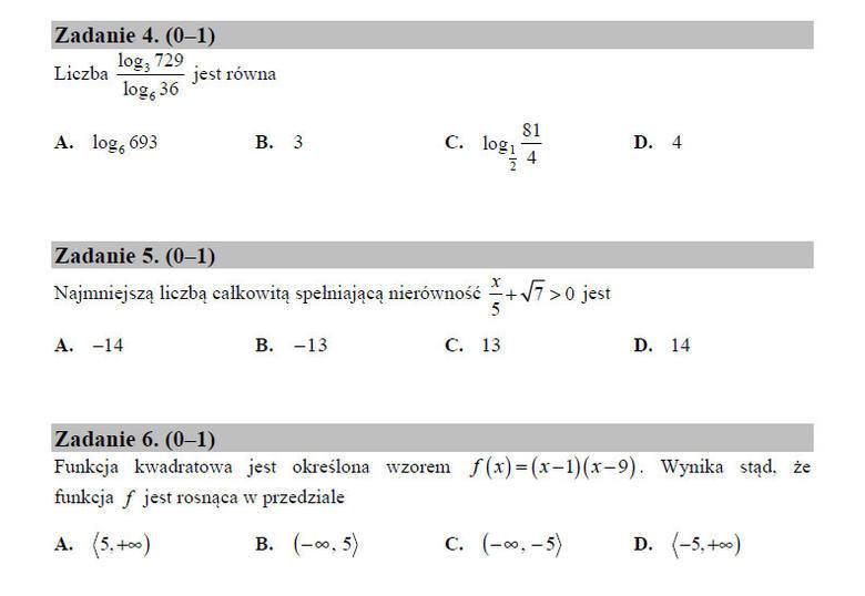 Matura poprawkowa 2017. Matematyka - odpowiedzi, arkusz CKE, rozwiązania, zadania