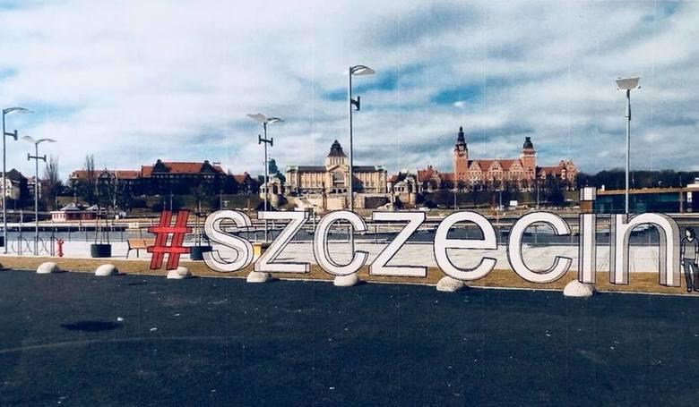 #Szczecin - wielki napis jako atrakcja turystyczna i ciekawe miejsce do pamiątkowego zdjęcia. Koszt 140 tys zł