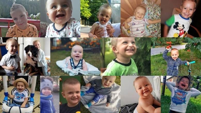 Oto urocze buźki chłopców biorących udział w akcji Uśmiech Dziecka, którzy mieli najwięcej głosów w Kielcach i każdym powiecie w piątek, 16 sierpnia