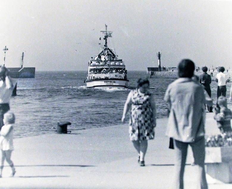 Molo w Ustce latem 1972