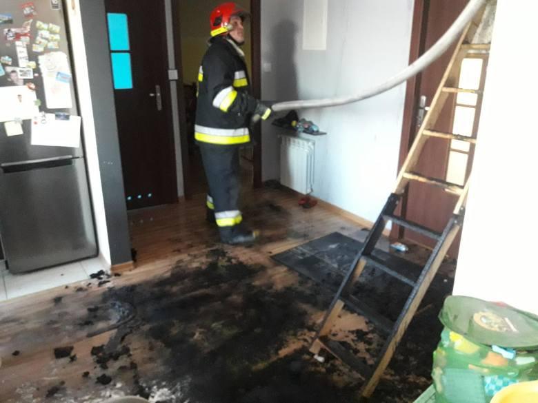 Pożar budynku mieszkalnego w miejscowości Kowiesy