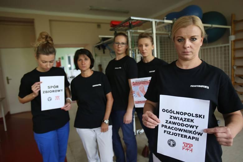 Ogólnopolski protest fizjoterapeutów i diagnostów laboratoryjnych rozpoczął się w poniedziałek 23 września