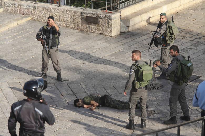 Palestyński nożownik zbity w centrum Jerozolimy