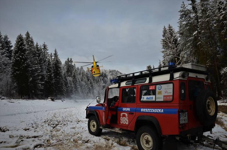 Trzy akcje w ciągu czterech dni przeprowadzili ratownicy Bieszczadzkiej Grupy GOPR. Najtrudniejsze były poszukiwania turystów w Dydiowej, którzy utknęli