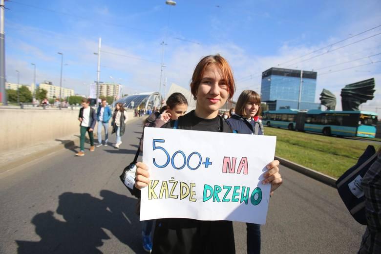 Katowice, młodzieżowy strajk klimatyczny.