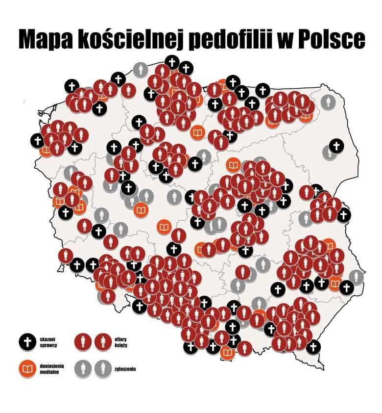 Mapa pedofilii w Kościele luty 2020: Gdzie dochodziło w Polsce do molestowania dzieci przez księży pedofilów? [LISTA] [RAPORT]