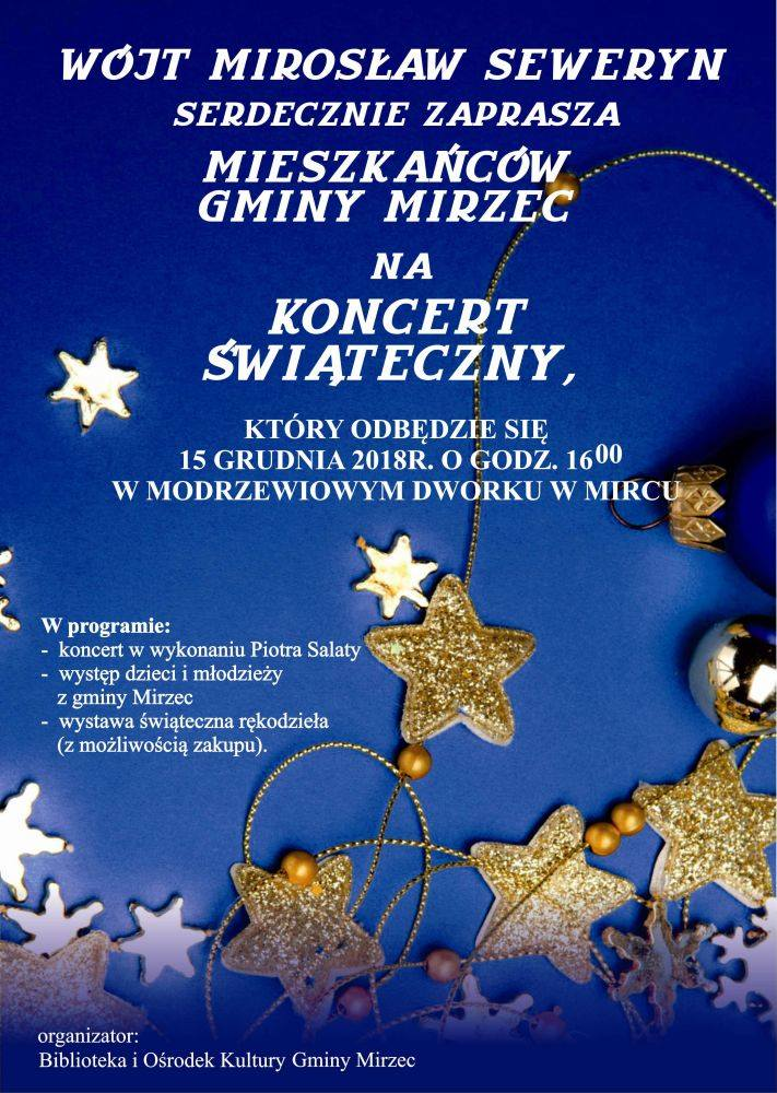 Plakat sobotniego koncertu w Mircu
