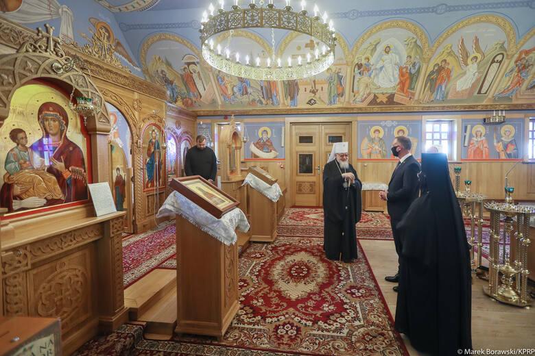 Prezydent RP Andrzej Duda odwiedził żeński monaster św. św. Marty i Marii na Świętej Górze Grabarce