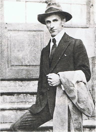 """Tadeusz Puszczyński jako """"Konrad Wawelberg"""" w 1921"""