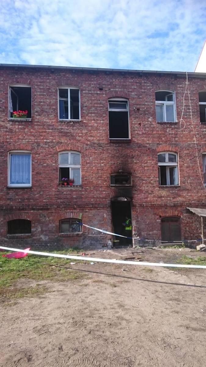 Pożar kamienicy w Lęborku. 16 osób trafiło do szpitala