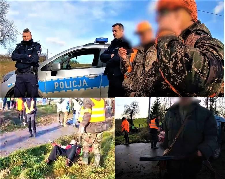 Ekolodzy chcieli zablokować polowanie myśliwych pod Krakowem. Doszło do szarpaniny