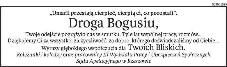 Nekrologi i Kondolencje z dnia 08 kwietnia 2020 roku