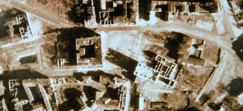 Plac Bernardyński został totalnie zniszczony. Kościół Franciszkanów praktycznie nie istnieje.