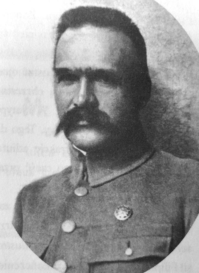"""Portret Józefa Piłsudskiego zamieszczony w """"Białymstoku ilustrowanym"""" z 1921 roku. <br />"""