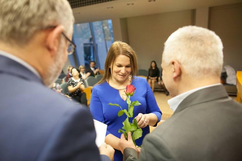 """""""Nauczyciel na medal"""" - gala w WSZiA w Opolu."""