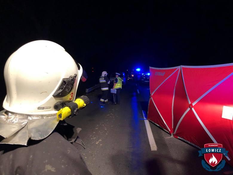 Wypadek śmiertelny pod Łowiczem. Pieszy zginął pod kołami auta