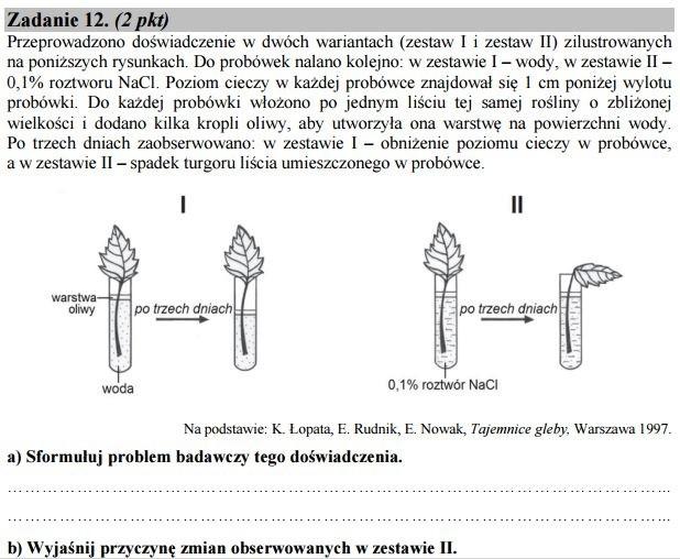 matura 2012 biologia rozszerzona odpowiedzi
