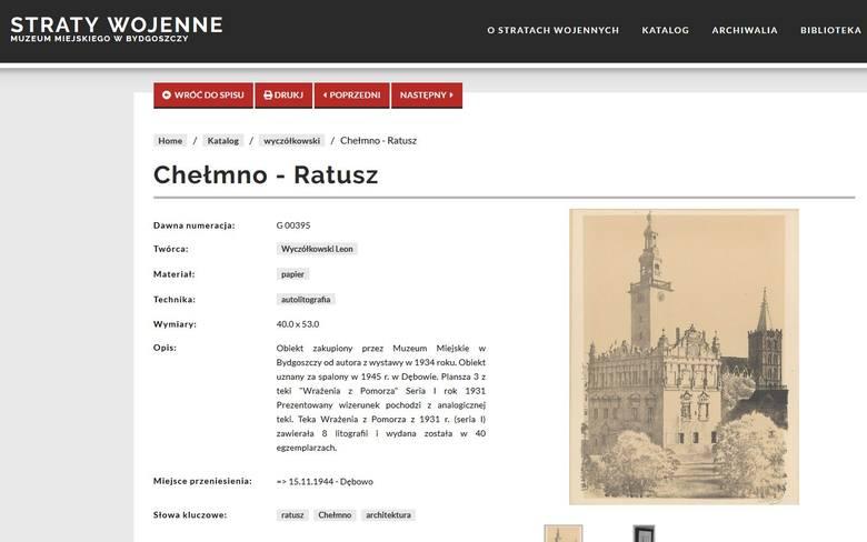 Muzeum Okręgowe w Bydgoszczy pokazuje eksponaty stracone podczas wojny