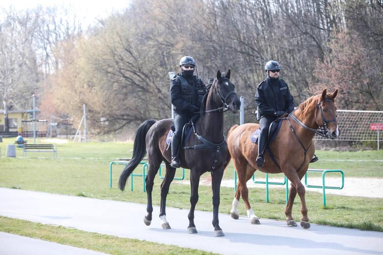 Patrole konne policji na bulwarach w Rzeszowie [ZDJĘCIA]